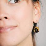 boucles d'oreilles femmes marron